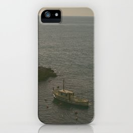 Fishing Liguria at Sunset iPhone Case