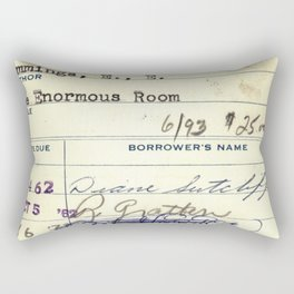 Library Card 828 The Enormous Room Rectangular Pillow
