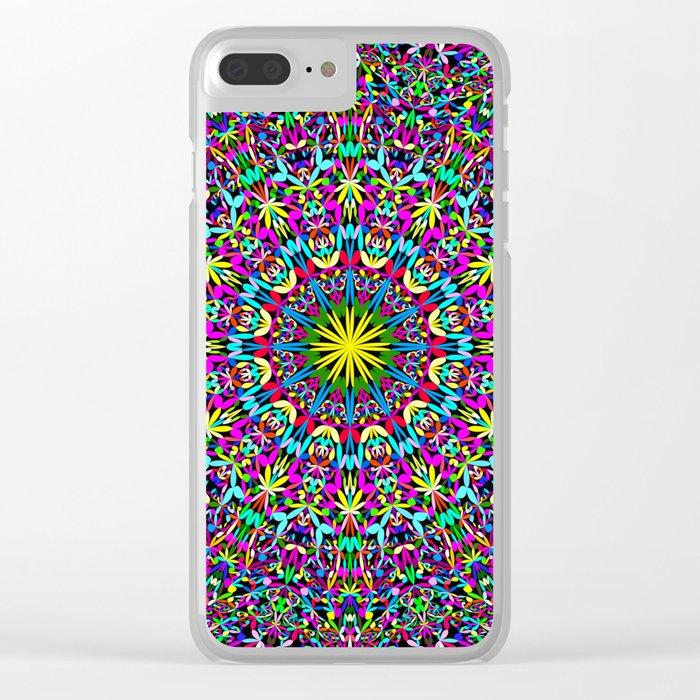 Bohemian Mandala Ornament Clear iPhone Case