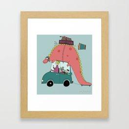Dino on the move Framed Art Print