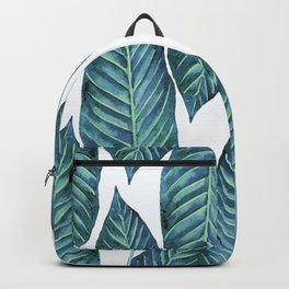 Blue Banana Leaves #society6 Backpack