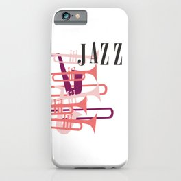 Jazz Big Band Homage Poster Design, For Jazz Musicians and Lovers, Original Design, tshirt, tee, jer iPhone Case