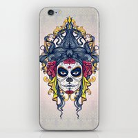 dia de los muertos iPhone & iPod Skins featuring Dia de los Muertos by merci