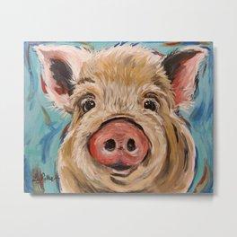 Pig Painting, Colorful Pig Metal Print