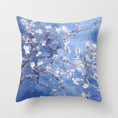 Vincent Van Gogh Almond BlossomS Blue Throw Pillow