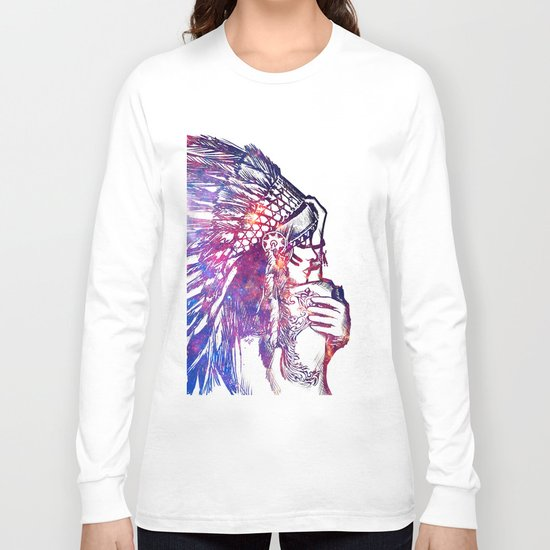 Space Indian Long Sleeve T-shirt