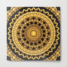 Energy Prism Mandala Metal Print