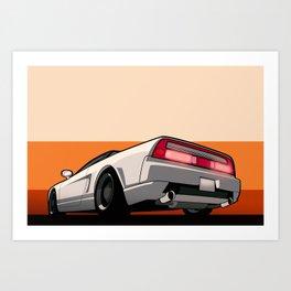 White Honda Acura NSX Art Print