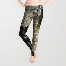 Baseball Love 3 by Kathy Morton Stanion Leggings