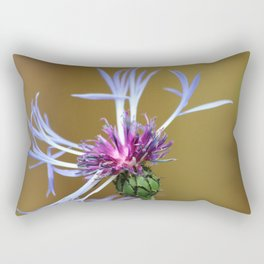 Cornflower Close Up - Flower Photograph Rectangular Pillow
