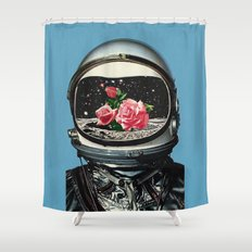 Spring Crop at the Rosseland Crater Shower Curtain