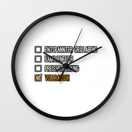 Drunk Beer Alcohol Gift Idea Wall Clock