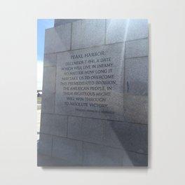 Memorial Metal Print