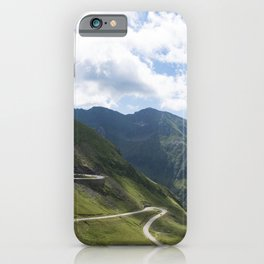 Transfagarasan Road, paved mountain road crossing the southern section of the Carpathian Mountains of Romania iPhone Case
