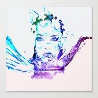 splash Canvas Prints featuring Splash by CLE.ArT.