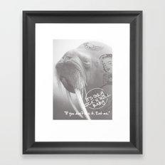 rock&roll Framed Art Print