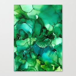 Into the Depths of Sea Green Mysteries Canvas Print
