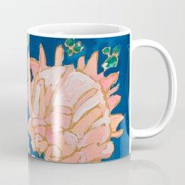 Protea in Enamel Flamingo Tumbler Painting Coffee Mug