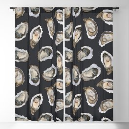 Oysters by the Dozen in Charcoal Blackout Curtain