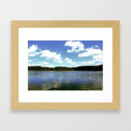 A Day on the Lake Framed Art Print