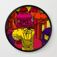 runner Wall Clocks featuring Runner by Brenton Morgenstern