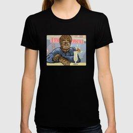 Wolfman drinking a pina colada at Trader Vics. T-shirt