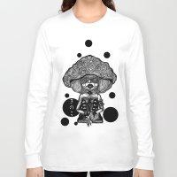 mushroom Long Sleeve T-shirts featuring Mushroom by AKIKO