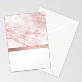 Minimalist rose gold glam Stationery Cards
