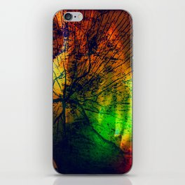 Rainbow Fire Wood Abstract iPhone Skin