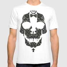 TML SKULLIFASHION White Mens Fitted Tee MEDIUM
