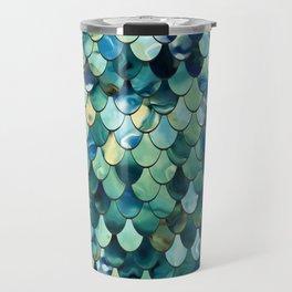 Mermaid Sea Green, Ocean Blue Travel Mug