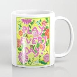 Play Every Day! Flower Painting Coffee Mug
