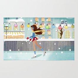 Ice Skating Girl Rug