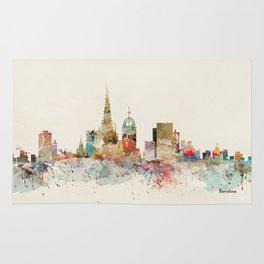 barcelona city skyline Rug