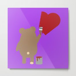 Brown Bear painting Metal Print