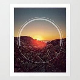 Peel Sunset Art Print