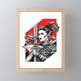 Ink Warrior Framed Mini Art Print