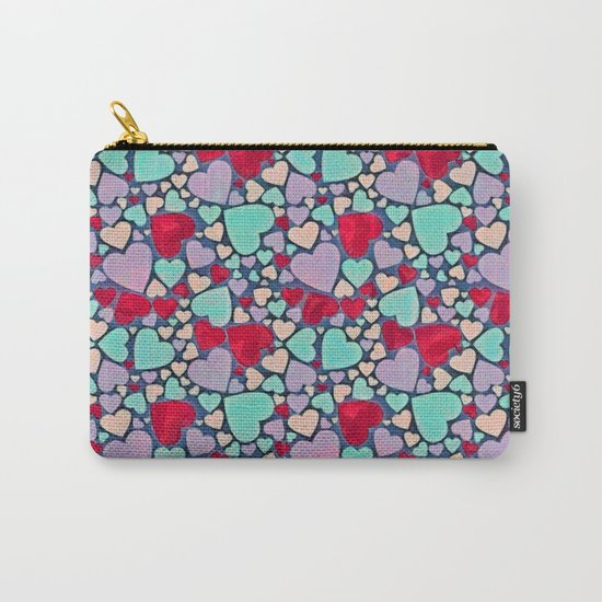 Sweet hearts mosaic pattern Carry-All Pouch