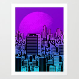 Cityscape collage 01A Art Print
