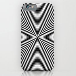 Hypnotic Circles optical illusion iPhone Case
