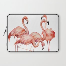 Pink flamingo. Watercolor Laptop Sleeve
