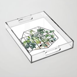 greenhouse with plants Acrylic Tray