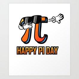 Dabbing Love Pi Day design Teacher Student Math Gift Art Print