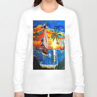 pirates Long Sleeve T-shirts featuring PIRATES by Aat Kuijpers