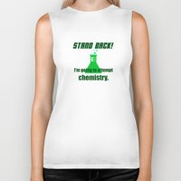 chemistry Biker Tanks featuring Attempting Chemistry by Spooky Dooky