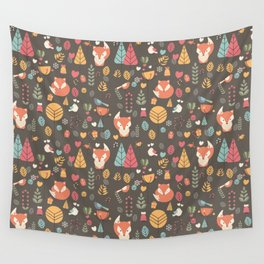 Baby fox pattern 04 Wall Tapestry