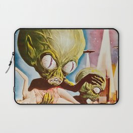 Invasion of the SaucerMen, Horror Movie Vintage Poster Laptop Sleeve