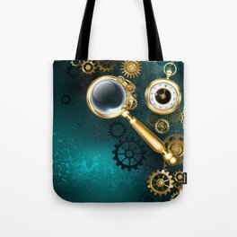 Magnifier in Steampunk Style Tote Bag