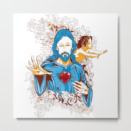 Love of god christ Metal Print