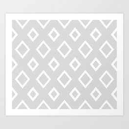 Abstract geometric pattern - gray and white. Art Print